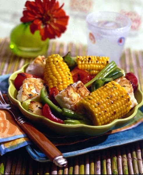 Caribbean Fish And Fresh Corn Roast Recipe