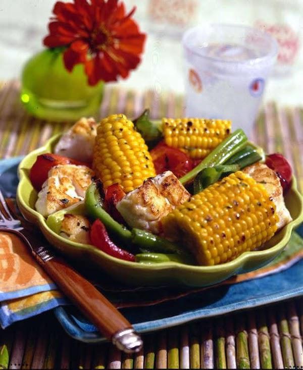 Caribbean Fish And Fresh Corn Roast Recipe
