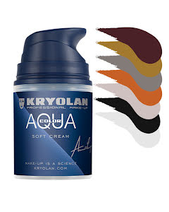 Kryolan, Aquacolor cream 50ml, färger
