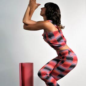 Yoga Pose by Cristobal Garciaferro Rubio - Sports & Fitness Other Sports ( pose, yoga pose, leggin, mat, yoga )