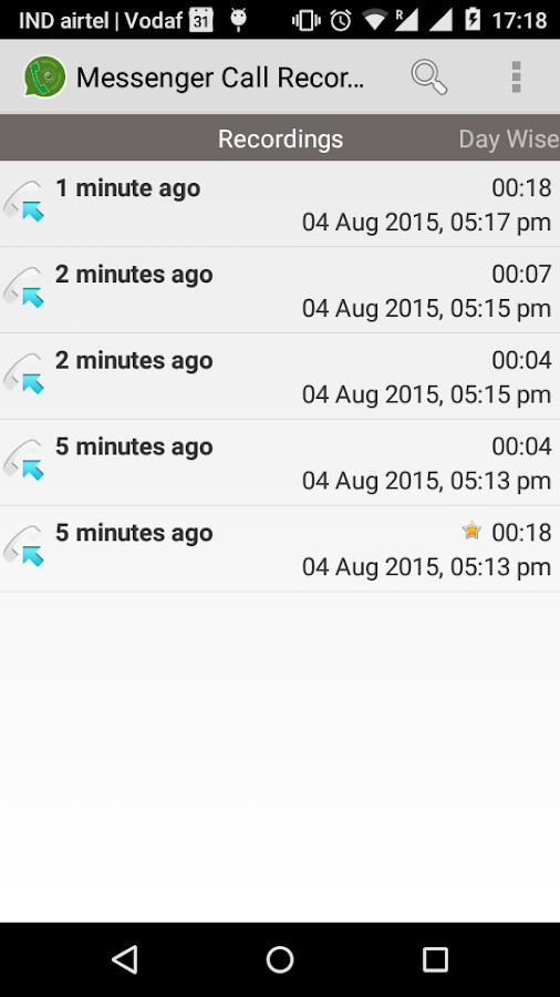 Messenger Call Recorder- screenshot