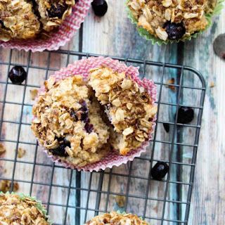 Whole Wheat Blueberry Lemon Greek Yogurt Muffins.