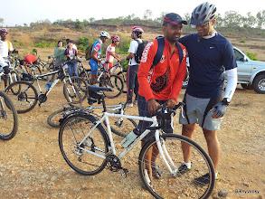 Photo: Da Lam arrives on his Japanese Anchor XC bike? :P