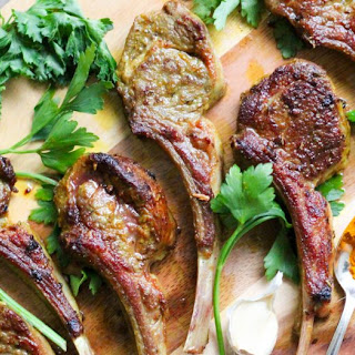 Turmeric Garlic Pan Fried Lamb Chops.