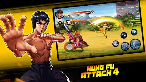 Kung Fu Attack 4 - Shadow Legends Fight apktreat screenshots 2