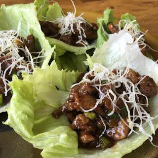 Gluten Free Mongolian Beef Lettuce Wraps
