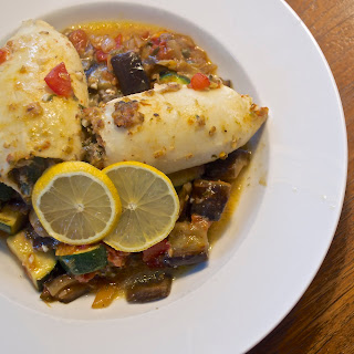 Summery Stuffed Squid with Caponata