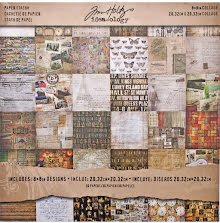 Tim Holtz Idea-Ology Paper Stash Paper Pad 8X8 36/Sheets - Collage