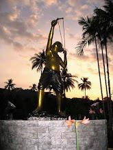 Photo: Coucher de soleil sur l'île de Phuket en Thaïlande