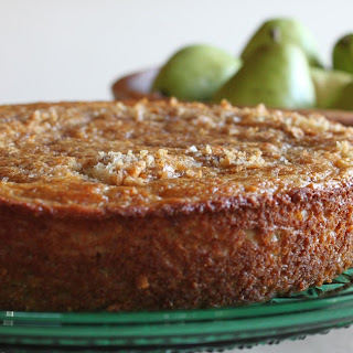 Pear Almond Yogurt Cake
