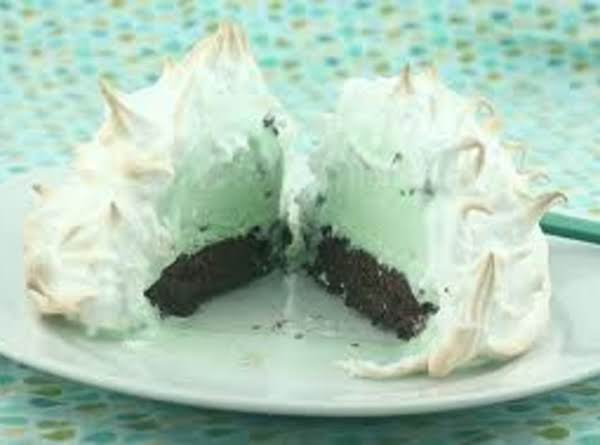 Baked Alaska Mint Pie