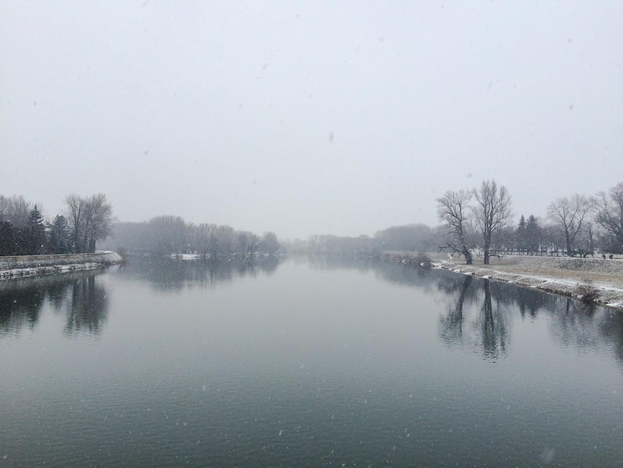 Winter view, Piešťany, Slovakia
