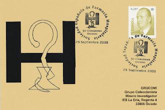Photo: Matasellos del 50 Congreso de la Sociedad Española de Farmacia Hospitalaria en Oviedo 2005