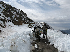 Photo: Where to now? The pass over the Atlas mountains was already closed