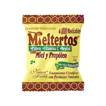MIELTERTOS PASTILLAS   SOBRE X4PAS. NATURAL FRESHLY MIEL PROPOLEO