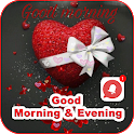 Good Morning & Evening Messages And Images GIFs HD icon