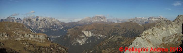 Photo: Panorama 10 Dal Catinaccio al Sella dalla Cresta dei Monzoni