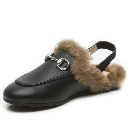 Thumbnail images of Gucci Faux Fur Sling-Back