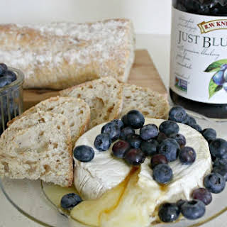 Baked Brie With Blueberries and Honey.