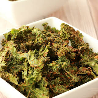 Easy Cheesy Kale Chips.