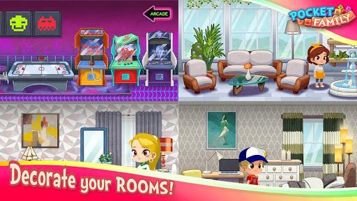 Pocket Family Dreams: Build My Virtual Home modavailable screenshots 7