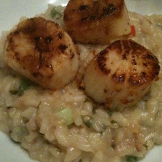 Coconut Thai Risotto With Seared Scallops