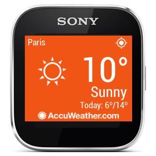 AccuWeather - Sony SmartWatch screenshot 2