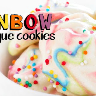 Egg-free Rainbow Meringue Cookies {vegan}