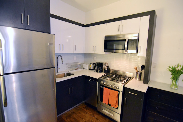 Fully equipped kitchen at Prospect Heights Apartments