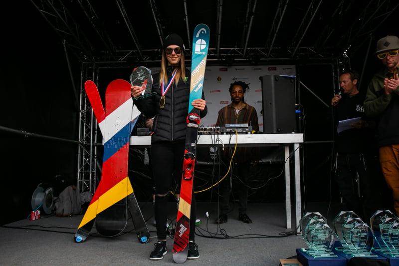 Isabelle Hanssen op het podium