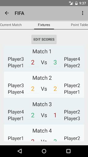 Doubles FIFA Scheduler