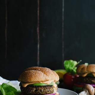 Mushroom and Quinoa Veggie Burger with Chipotle Aioli