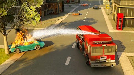 Robot Fire Fighter Rescue Truck 3