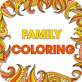 Family Coloring-Adults & Kids