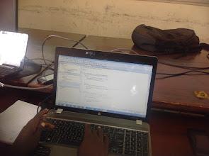 Photo: The Coding Laptop of a developer