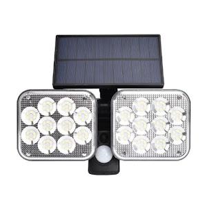 Lampa solara 120 SMD LED si senzor de miscare, JD-2108