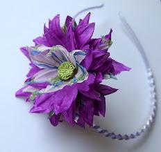 Photo: Цветы из ткани - Ободок Клематис
