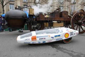 Photo: ... un véhicule à Vapeur & un plus petit électrique, dans les cas ce n'est pas une histoire devitessemais de durée...