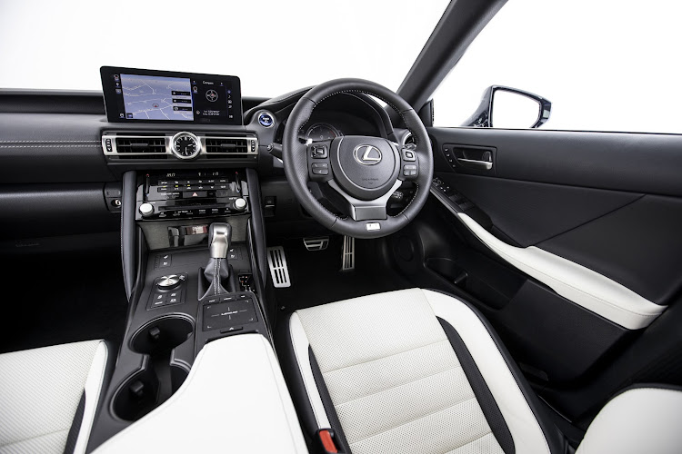 The cabin gets more stylish two-tone seats when specified with F Sport trim. Picture: SUPPLIED