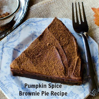 Pumpkin Spice Brownie Pie Recipe - A Fav Pumpkin