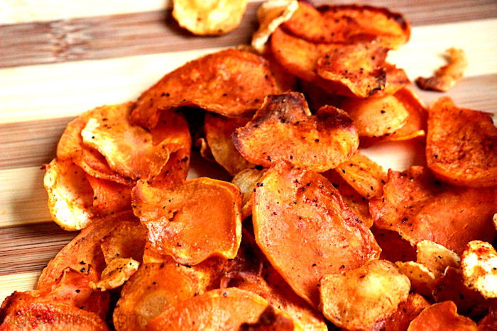 Baked Sweet Potato and Parsnip Chips Recipe