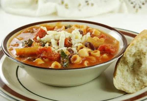 Minestrone With Asiago Cheese Recipe