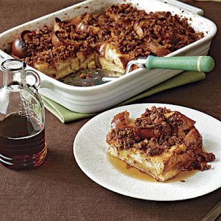 Baked Apricot French Toast with Crunchy Corn Flake Streusel
