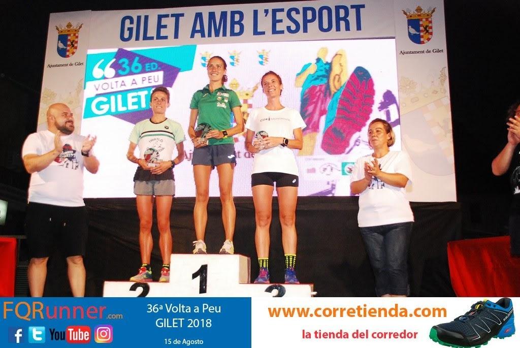 Podium femenino Volta a Peu Gilet 2018