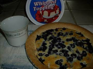 Blueberry Pie with Cobbler Topping