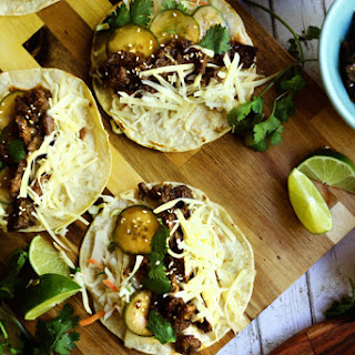 Asian Bulgogi Tacos.