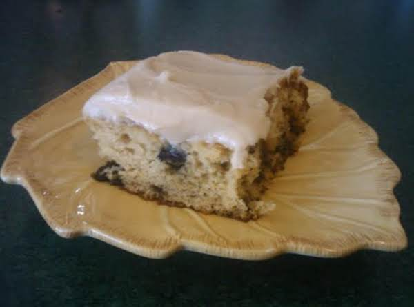Blueberry Muffin Cake With Vanilla Cream Cheese Frosting