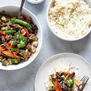 Stir-Fry with Garlic Scallion Cauli Rice.