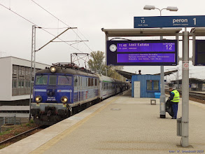 """Photo: EP07-395, TLK """"Wokulski"""" Warszawa Wschodnia - Łódź Kaliska {Warszawa Wschodnia; 2015-10-25}"""