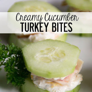 Creamy Cucumber Turkey Bites